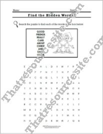 Virtue of Friendship Word Search Worksheet