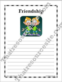 Virtue of Friendship Writing Paper