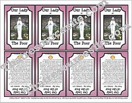 Our Lady of the Poor Printable Saint Trading Card
