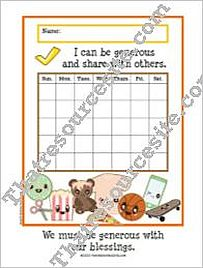 We Must Be Generous with Our Blessings Chart Set