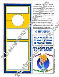 Pray at All Times Door Sign Activity