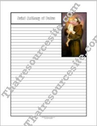 Saint Anthony of Padua Notebooking Set
