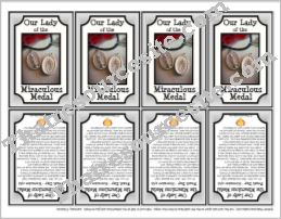 Our Lady of the Miraculous Medal Printable Saint Trading Card