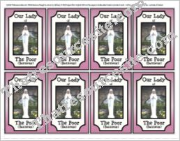 Our Lady of the Poor Double-Sided Printable Trading Card