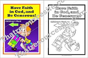 Have Faith in God and Be Generous Poster Set