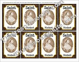 Saint Norbert Double-Sided Saint Trading Card