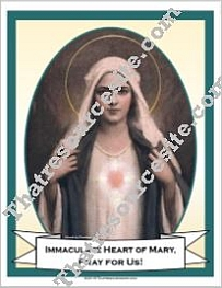 Poster of the Immaculate Heart of Mary