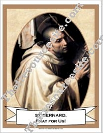 Poster of St. Bernard of Clairvaux