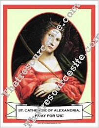 Poster of St. Catherine of Alexandria