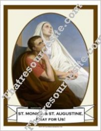 Poster of St. Monica and St. Augustine