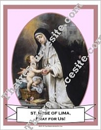 Poster of St. Rose of Lima