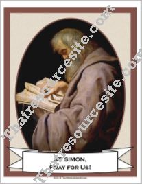 Poster of St. Simon the Apostle