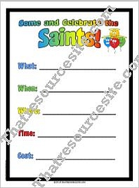 All Saints' Day Flyer Invitation