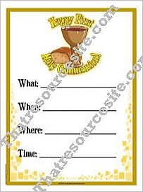 Happy First Holy Communion Invitation Flyer