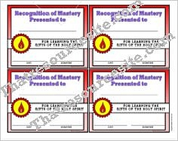 Certificate of Mastery for the Gifts of the Holy Spirit