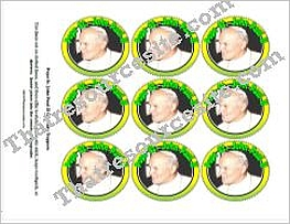 Pope Saint John Paul II Cupcake Topper