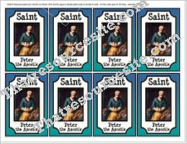 Saint Peter Double-Sided Saint Trading Card