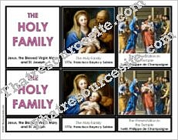 The Holy Family 3-Part Montessori Cards Set