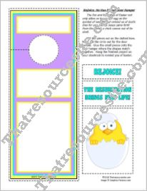 Rejoice He is Risen Door Sign Activity