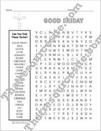 Word Search About Good Friday