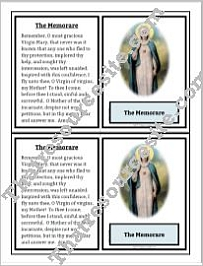 Memorare Prayer Learning Card