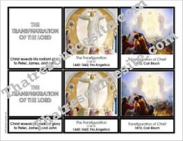 Transfiguration 3-Part Montessori Card Set