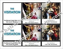 Visitation 3-Part Montessori Card Set