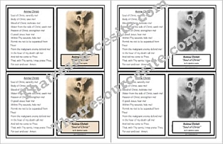 Anima Christi Prayer Learning Card
