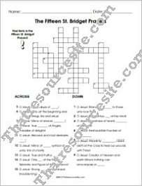 Fifteen Saint Bridget Prayers Crossword Puzzle