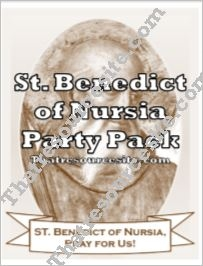 St. Benedict of Nursia Saint Party Pack