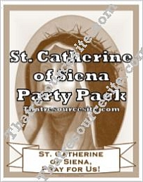 St. Catherine of Siena Saint Party Pack
