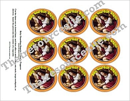 Holy Guardian Angels Cupcake Topper Version 2
