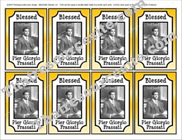 Blessed Pier Giorgio Frassati Double-Sided Trading Card