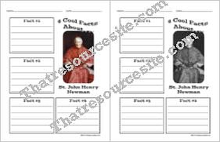 4 Cool Facts About Saint John Henry Newman Worksheet