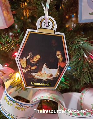 Emmanuel Christmas Ornament for Kids