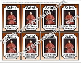 Saint John Henry Newman Double-Sided Saint Trading Card