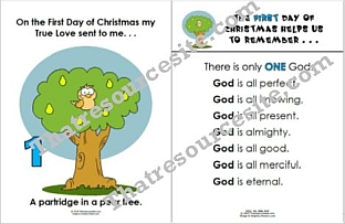 Twelve Days of Christmas Posters with Faith Focus