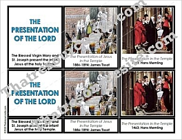 The Presentation of the Lord 3-Part Montessori Card Set