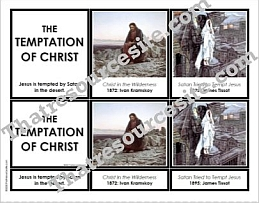 The Temptation of Christ 3-Part Montessori Card Set