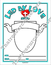 Led by Love Award Certificate Set