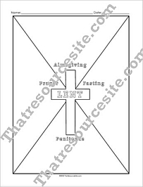 Four Facets of Lent Graphic Organizer Worksheet