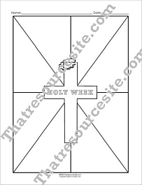 Holy Week Graphic Organizer Worksheet