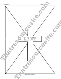 Lenten Cross Graphic Organizer Set