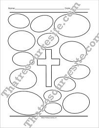 Cross with Ovals Graphic Organizer Worksheet