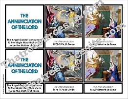 Annunciation of the Lord 3-Part Montessori Card Set