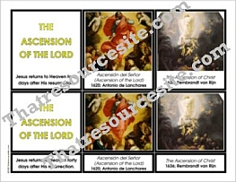 Ascension of the Lord 3-Part Montessori Card Set