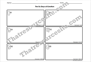 Graphic Organizer Worksheet Set for the Days of Creation