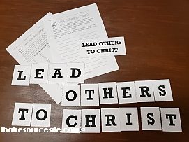 Lead Others to Christ Letter Scramble Game