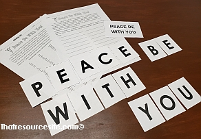 Peace Be With You Letter Scramble Game