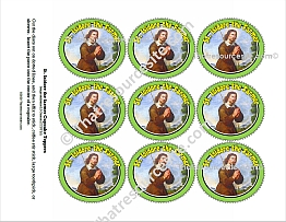 Saint Isidore the Farmer Cupcake Topper